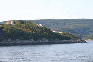 Baie-Sainte-Catherine at the entry of the Fjord of Saguenay