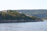 Bay-Saint-Catherine at the entry of the Fjord of Saguenay