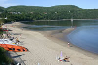 The beach of Tadoussac